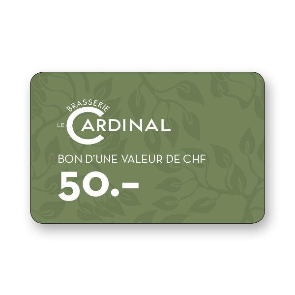 Brasserie le Cardinal 50.- CHF gift voucher